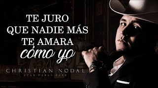 (LETRA) ¨MI ETERNO AMOR SECRETO¨ - Christian Nodal (Lyric Video)