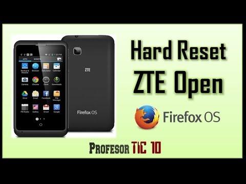 Cómo hacer Hard reset ZTE Open| How to Reset ZTE Open