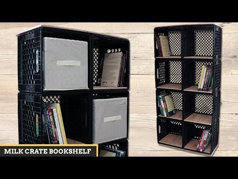 Ordinaire Milk Crate DIY: Bookshelf