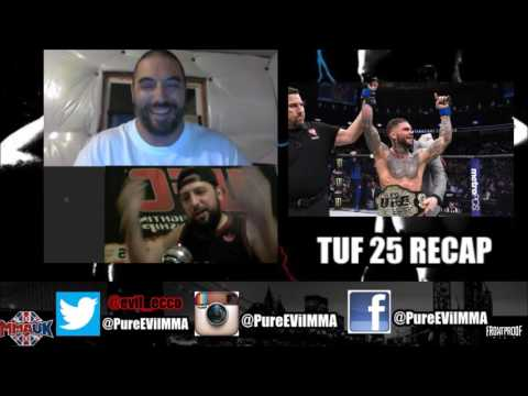 "EVil & IntoxicaTED #49 : ""TUF25 (ep,5) RECAP + Weekly MMA NEWS"""