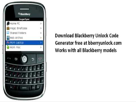 how to unlock a blackberry pearl 8120 for free