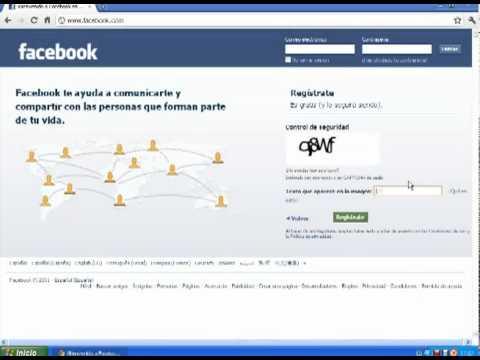Como hacer una cuenta en Facebook - Registracion