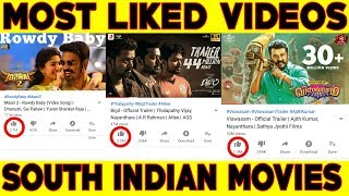 அதிக likes பெற்ற South Indian Movies/Videos | Vijay | Ajith | Dhanush | #Nettv4u