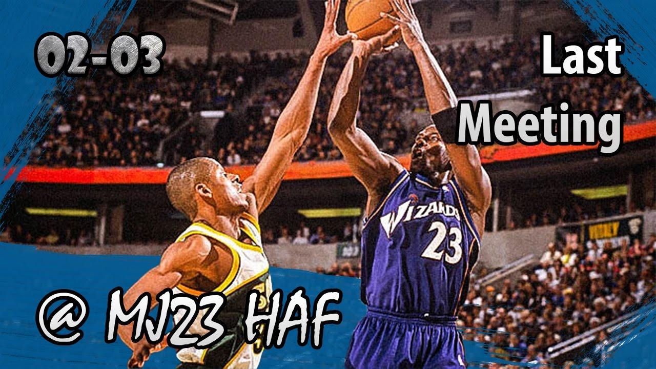 f75fa5b7ad8bc5 Michael Jordan vs Ray Allen Highlights Wizards vs Sonics (2003.03.26)-43pts  TOTAL! LAST MEETING!