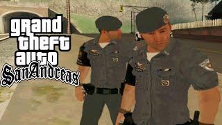 TIROTEIO NA BASE DA POLICIA -  POLICIA 24 HORAS MOD GTA SAN ANDREAS