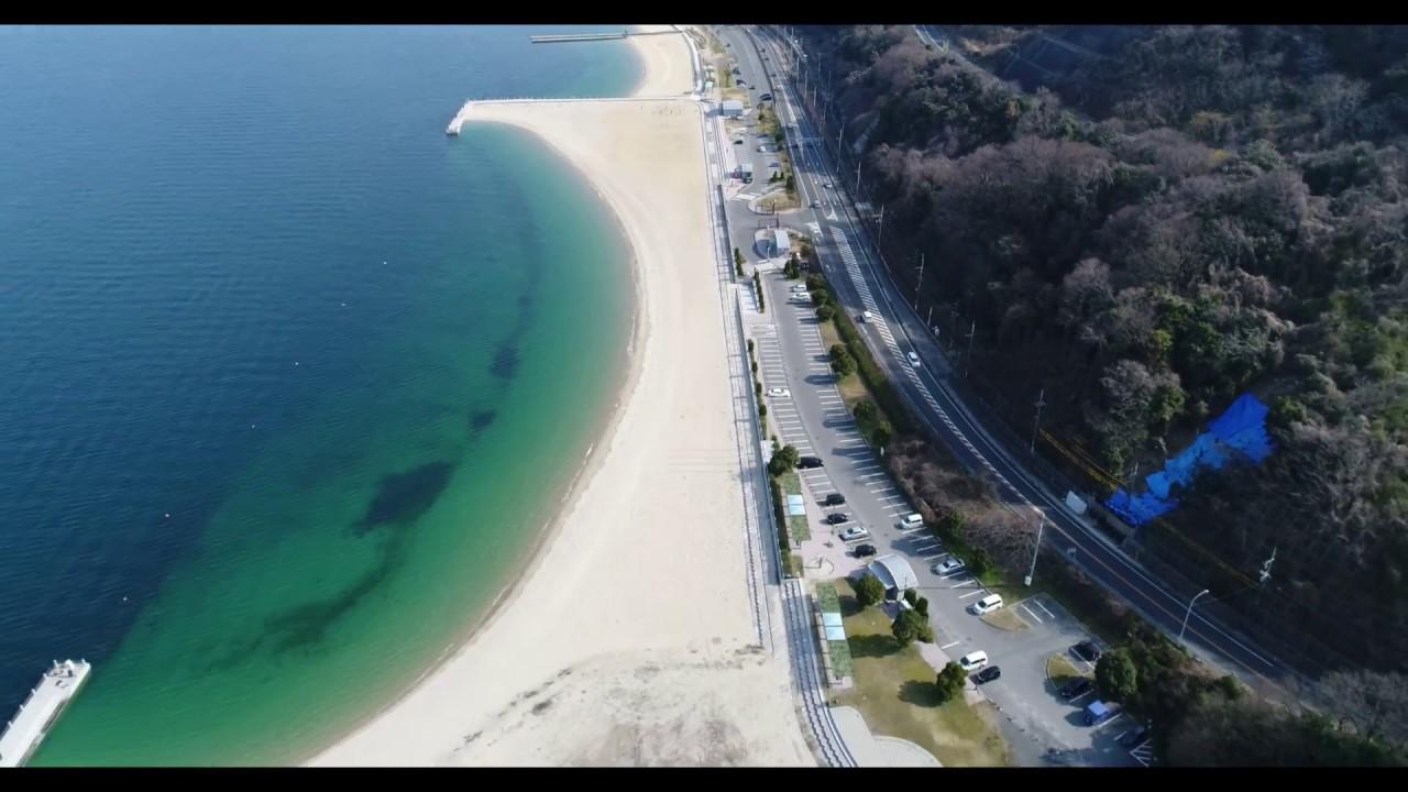 広島県安蕓郡坂町 ベイサイドビーチ坂【ドローン】 - YouTube