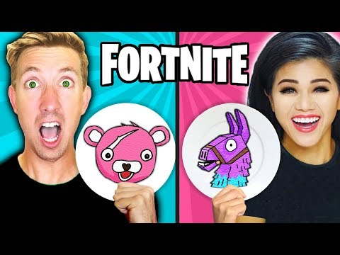 FORTNITE PANCAKE ART CHALLENGE! Learn How To Make LLAMA & POND MONSTER in REAL LIFE DIY Pancake! - Простые вкусные домашние видео рецепты блюд