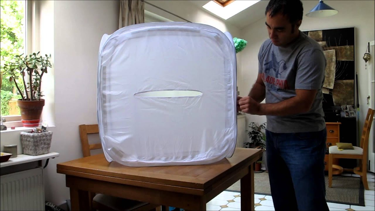 & How To Fold A Portable Light Tent / Cube / Softbox - YouTube