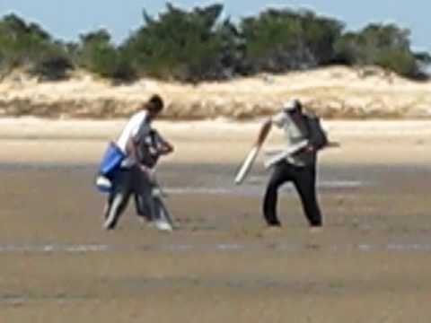 3 guys getting stuck in the sand at stockyard point lang for Bass fishing yard sale