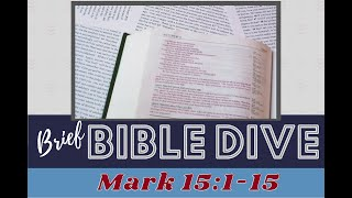 Brief Bible Dive: Mark 12:1-15 The Sacred Wounds of Christ: Christ's Blood