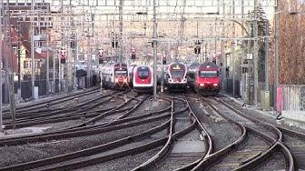 Feierabendverkehr Bahnhof Zürich Oerlikon