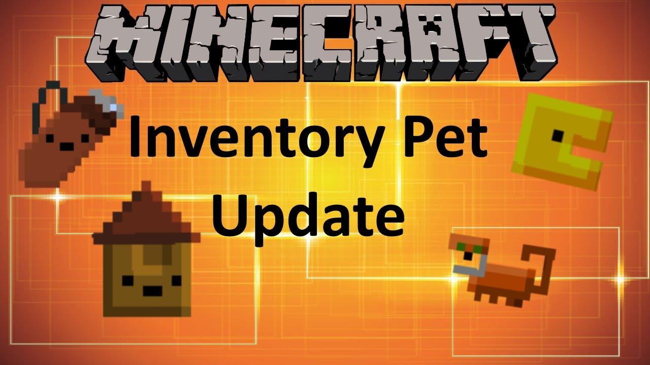 Minecraft: INVENTORY PET MOD UPDATE (MOD SHOWCASE) - YouTube