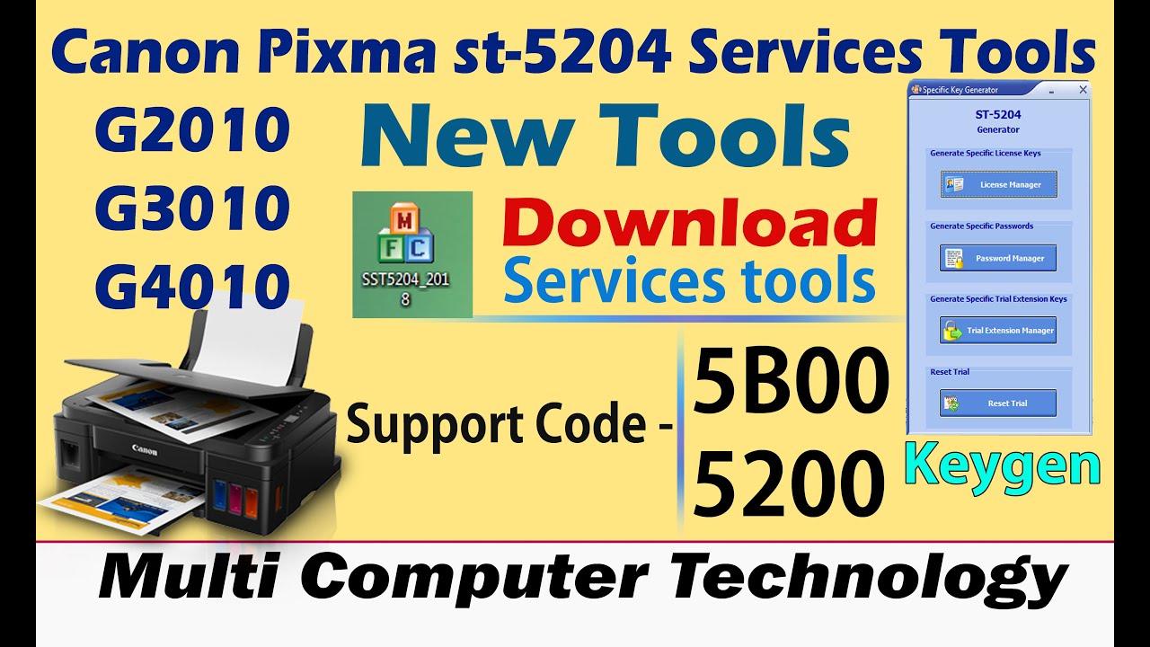 CANON PIXMA G2010 5B00 , G3010, 4010 Error P08 Reset, Error P07 Reset Canon  st 5204 resetter tools