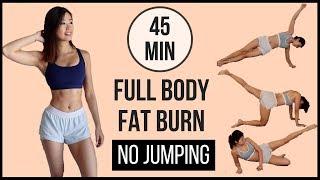 45分鐘在家全身燒脂  不用跳, 不用器械! (手臂, 上腹, 側腹, 下腹, 背, 大腿, 小腿, 臀) ◆ Emi ◆