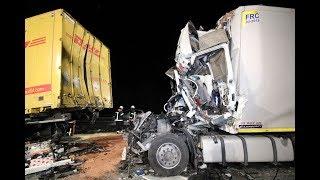 [14.02.2018] - Erneut 1 Toter bei anhaltend schwerer Unfallserie auf der A3 bei Biebelried