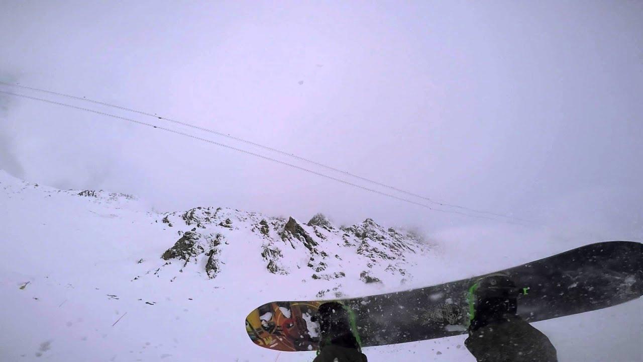 Verbier snowboard crash