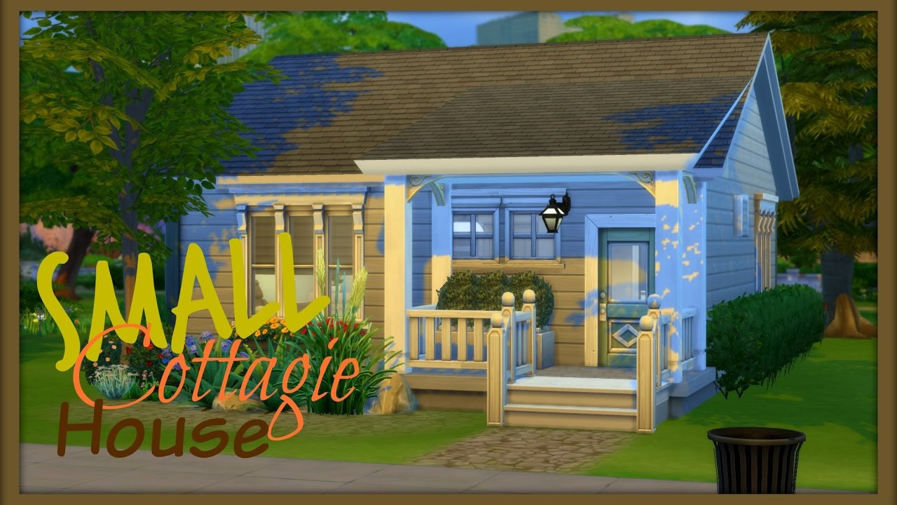 building my first house sims 4 speed build small cottage house