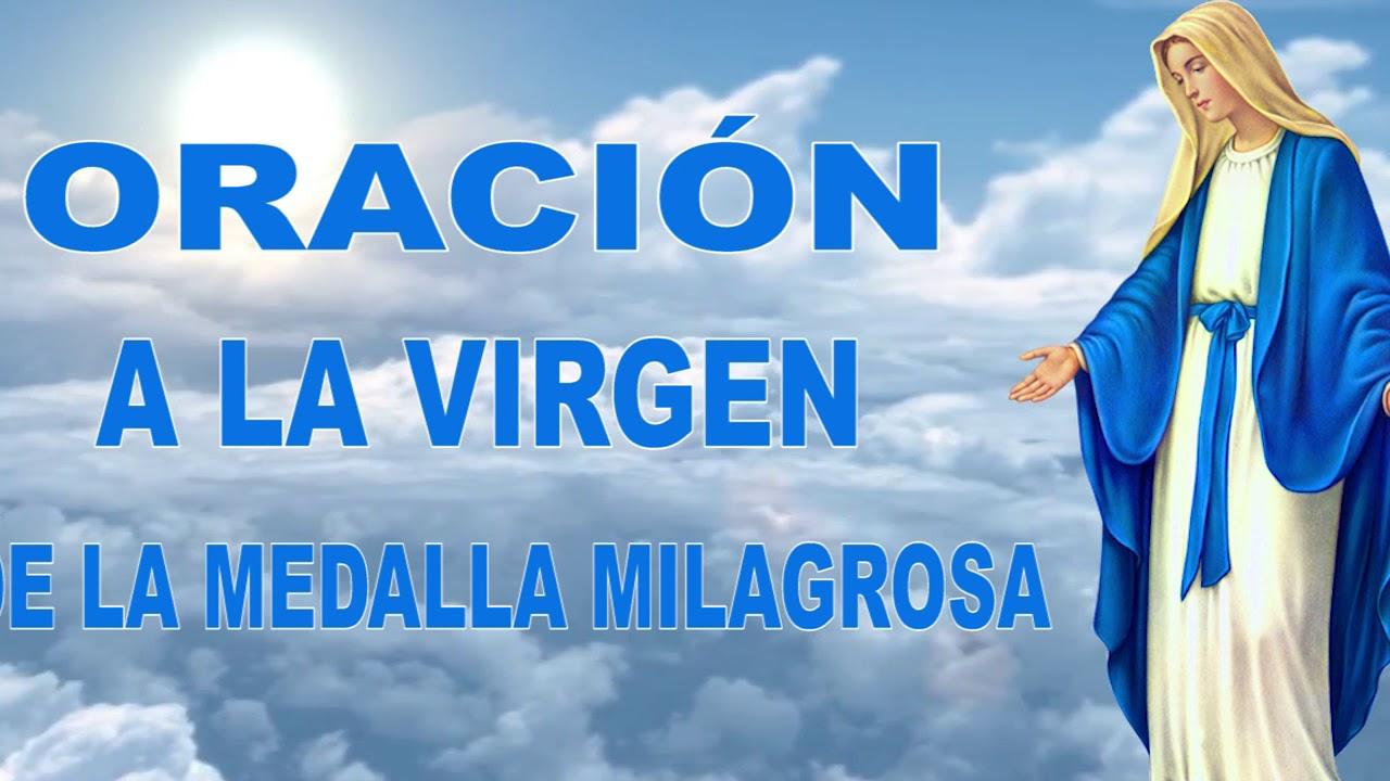 ORACIÓN A LA MEDALLA MILAGROSA - YouTube