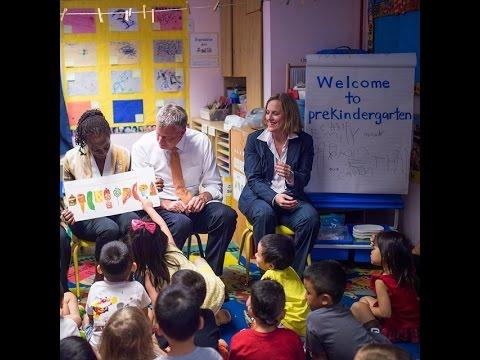 Mayor de Blasio Visits Amber Charter School