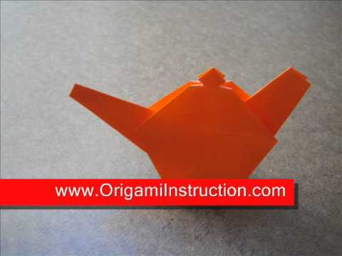 Origami Instructions Origami Little Teapot Youtube