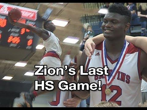 Zion Williamson Zion Williamson's LAST High School GAME!! 2nd Half Was ...