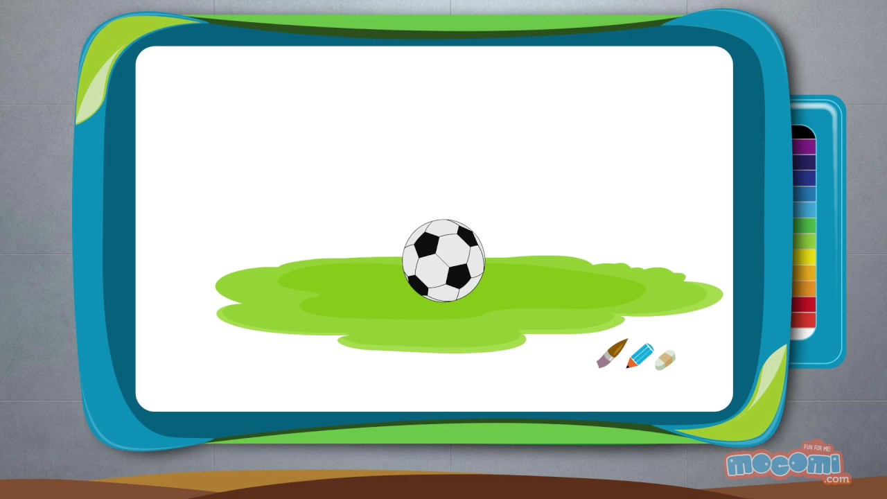 How to Draw a Football - Step By Step Drawing for Kids | Educational ...