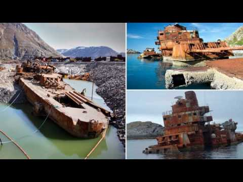 Salvaging the wreck of an old Russian cruiser The Murmansk -