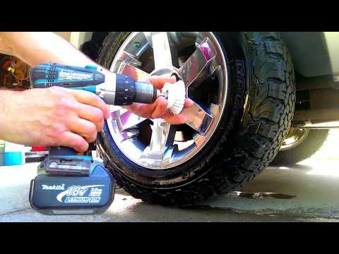 clean rims easy with $2 brush trick