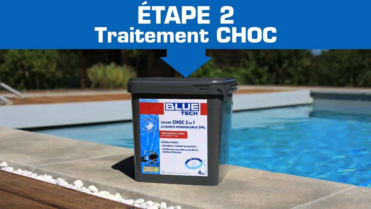 Chlore choc piscine interesting toute la gamme de for Traitement de choc piscine