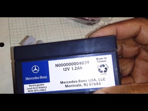 Mercedes Auxiliary Battery Change