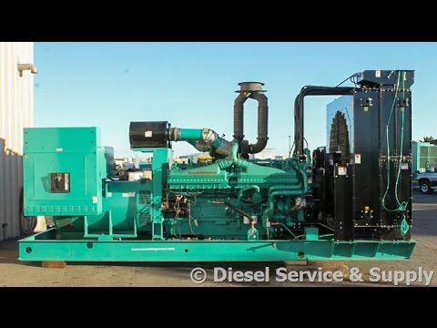 Cummins 1500 kW Standby Diesel Generator– 277/480 V, Used Genset #87139