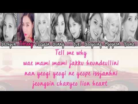 Girls' Generation (SNSD) - Lion Heart Lyrics Color Coded [Rom]