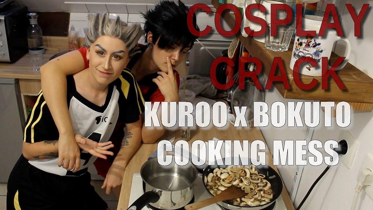Kuroo/Bokuto COSPLAY CRACK - Cooking and chaos