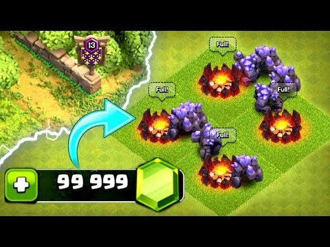 GEMMING THE NEW UPDATE IN CLASH OF CLANS!! - UNLOCKING LEVEL 7 GOLEMS!