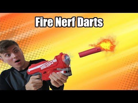 FLAMING NERF DART!!