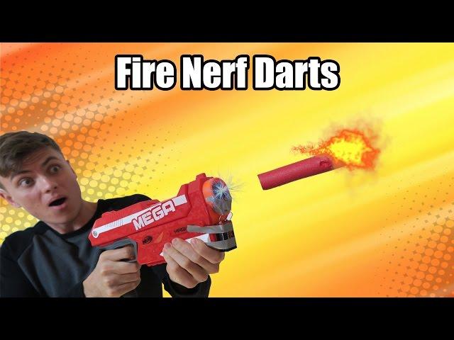 INSANE FLAMING NERF FIRE DART!! (Fire Nerf Gun Insane) - YouTube