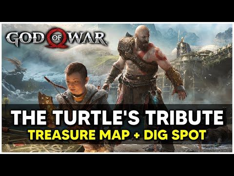 God Of War - The Turtle's Tribute Treasure Map + Dig Spot Locations