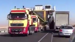 видео Транспортировка нестандартных грузов или негабаритных грузов