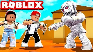 THE EVIL MUMMY ATTACKED US - ROBLOX TIME TRAVEL ADVENTURES