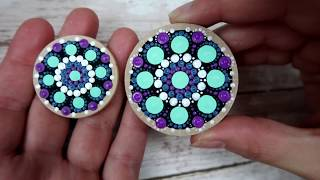 How To Paint Dot Mandalas PENDANTS Gift Ideas Full Step By Step Guide