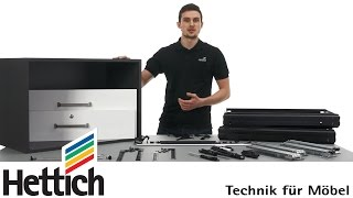 Systema Top 2000: Assembly of storage units with Hettich office organization