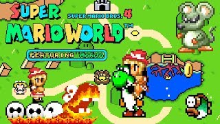 Super Mario World feat. Marisa Kirisame • Super Mario World ROM Hack (Longplay/Playthrough)