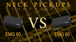 EMG 60 vs EMG 85 - Active NECK Pickup Guitar Tone Comparison / Review