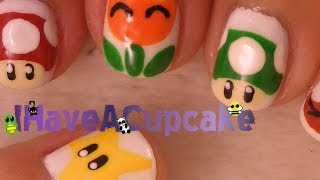 Mario Bros Power-up Nail Art