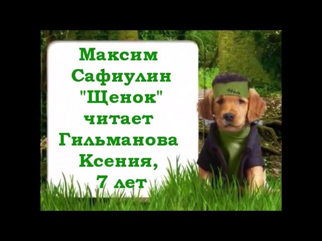 Изображение предпросмотра прочтения – КсенияГильманова читает произведение «Щенок» М.С.Сафиулина