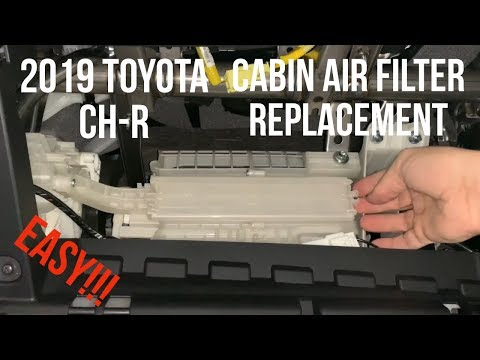 Toyota CH-R – Cabin Air Filter Replacement – DIY How To