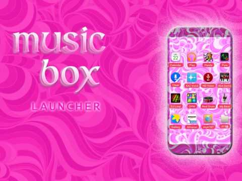 Music Box homescreen launcher app