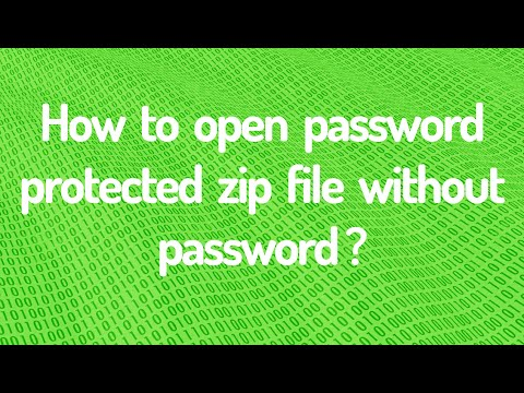 Open Password Protected Zip Files Without Password - YouTube