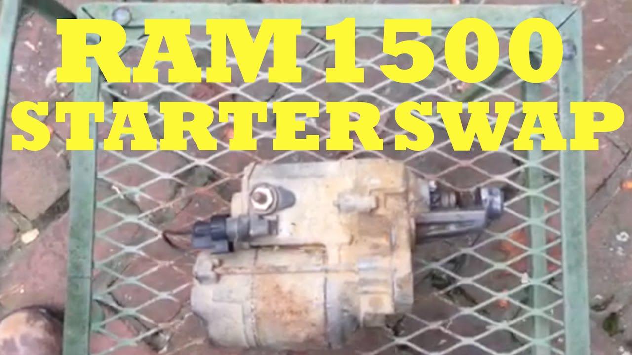 starter swap on 94 01 dodge ram 1500 [ 1280 x 720 Pixel ]