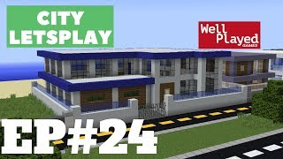 Minecraft Modern Beach House! City Letsplay Ep24